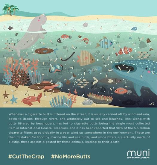 #CutTheCrap #NoMoreButts campaign poster