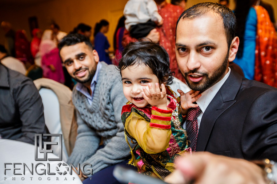 Guests at Muslim Indian wedding