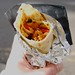 A chicken wrap from Benji Bad Bwoy
