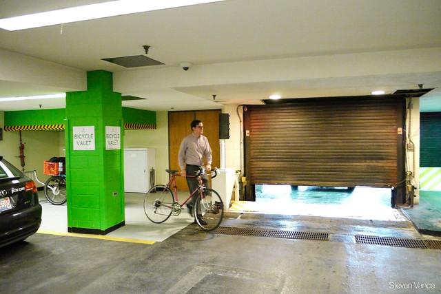 Bike valet at Willis Tower