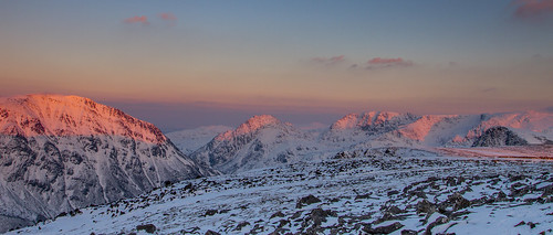 Alpenglow - Pen yr Ole Wen, Tryfan and the Glyderau - Explored