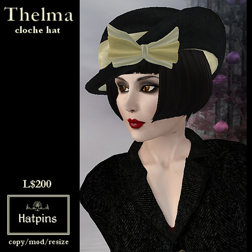 Hatpins - Thelma Cloche Hat - Cream