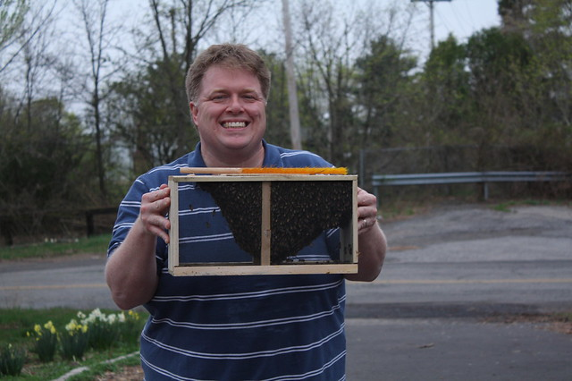 Paul with 7000 bees