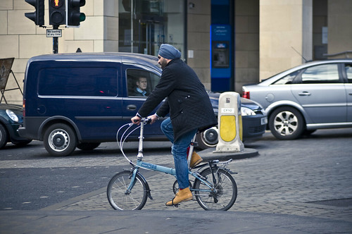 Dapper matching Turban and Bike
