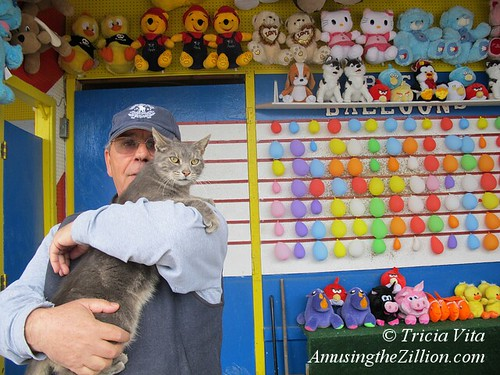 Manny Cohen and Target the Coney Island Arcade Cat