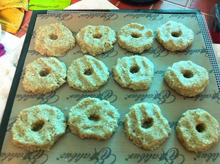 lemon lavender raw doughnuts dehydrating