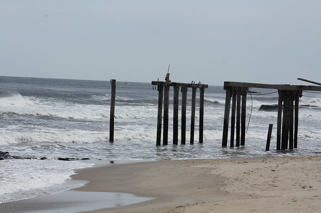 The end of the fishing pier is gone