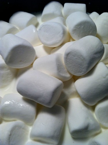 Marshmallows in half and half