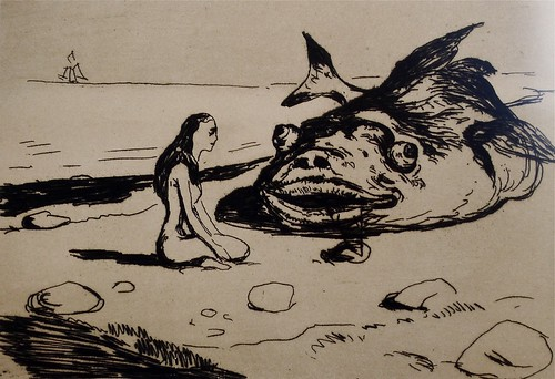 "Edvard Munch: ""Den store torsken"", detail"