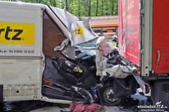 Lkw-Unfall A3 Niedernhausen 02.05.13