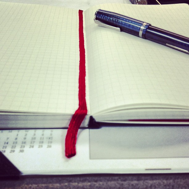 #TWSBI #notebook, how's that for laying flat?
