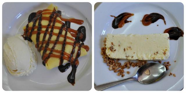 Mango Crepe and Sans Rival Ice Cream