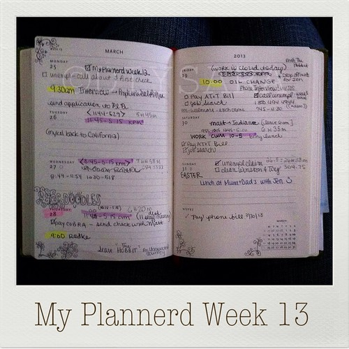My Plannerd Week Thirteen