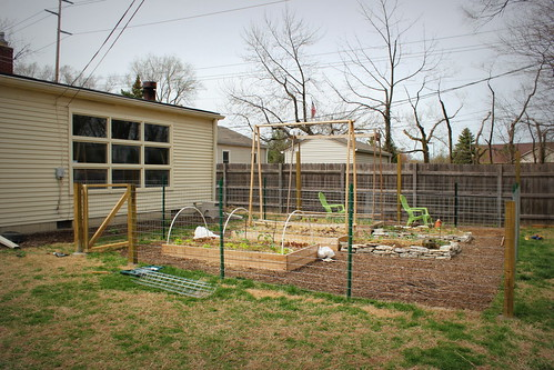 20130415. We have a garden fence!