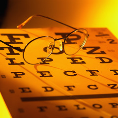 Optometry letters from eye chart