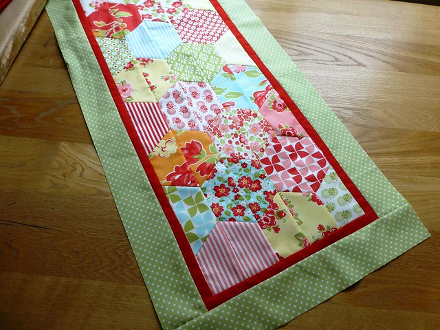 Marmalade Half Hexie table runner May13