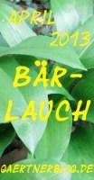 Garten-Koch-Event April: Bärlauch [30.04.2013]