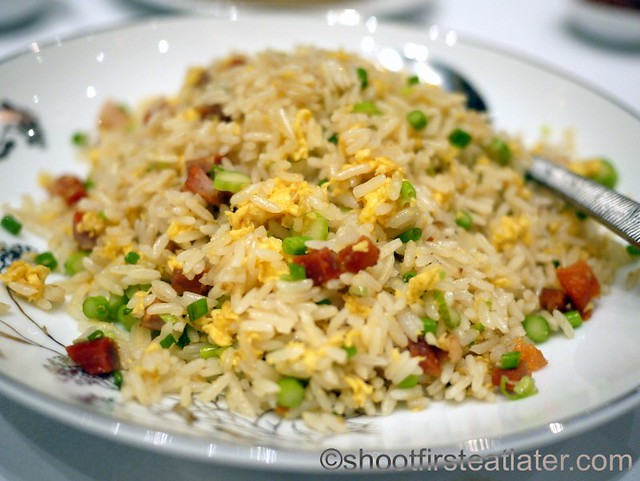 Red Lantern @ Solaire- fried rice with barbecued pork