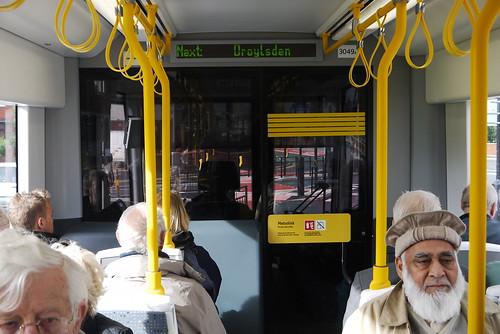 Tram interior (between Audenshaw and Droylsden)