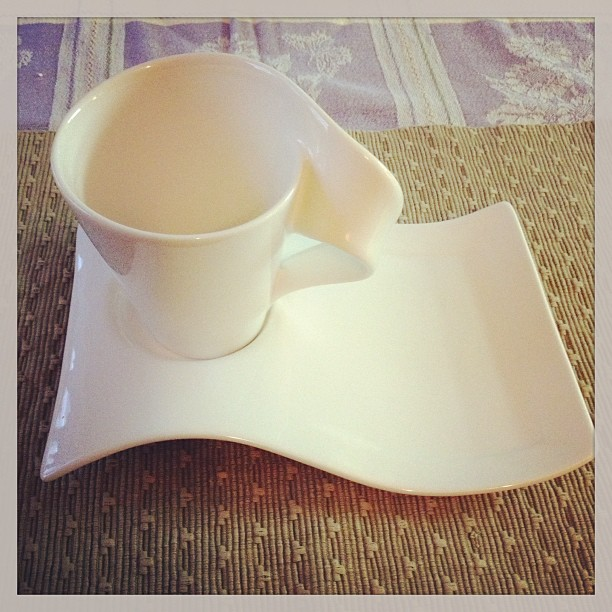 Apr 19 - white {I love this funky cup & plate for my afternoon treat} #photoaday #cup #white