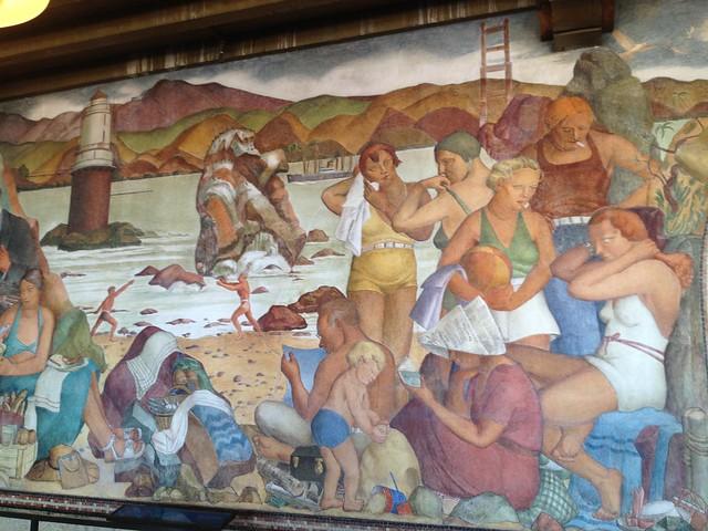 San Francisco beach mural
