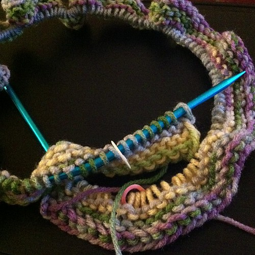 Because I need three WIPs. #knit #blanket on #circular #needles.