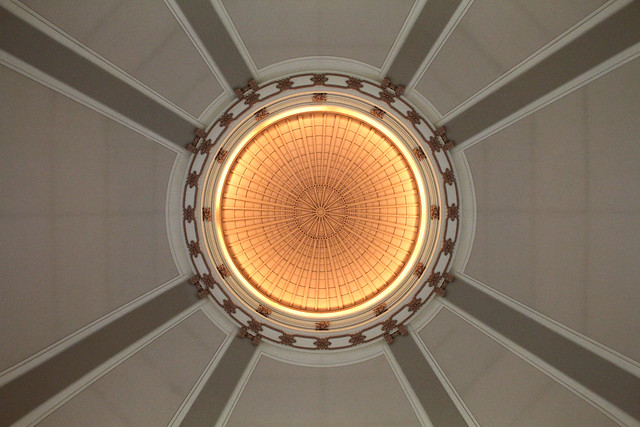 Under the rotunda