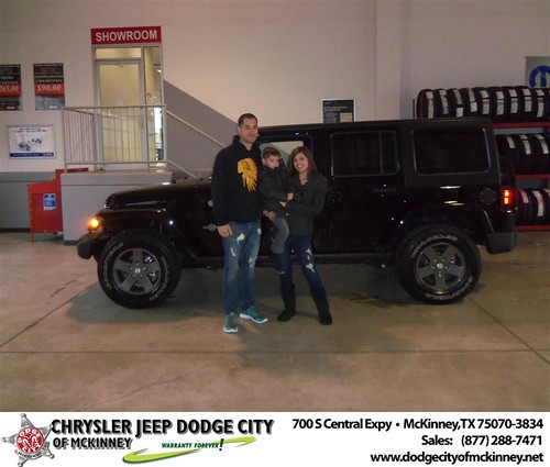 Dodge City of McKinney would like to say Dodge City of McKinney would like to say Congratulations to Kaleb Ortiz on the 2013 Jeep Wrangler by Dodge City McKinney Texas
