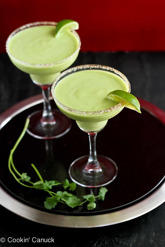 Kicked-Up Avocado Margarita Recipe for Cinco de Mayo by Cookin' Canuck #recipe #avocado #cincodemayo