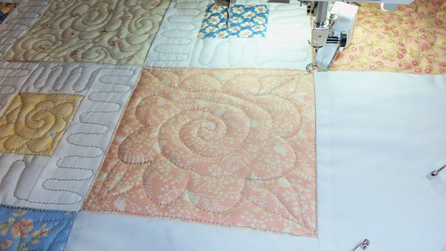 Quilting on baby quilt... by ruthiequilts