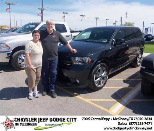 Dodge City of McKinney would like to say Congratulations to Norma Reichert on the 2013 Dodge Durango by Dodge City McKinney Texas