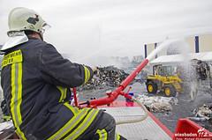 Großbrand Papierlager SCA Kostheim 20.04.13