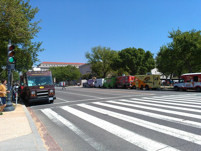 food trucks as far as the eye can see.