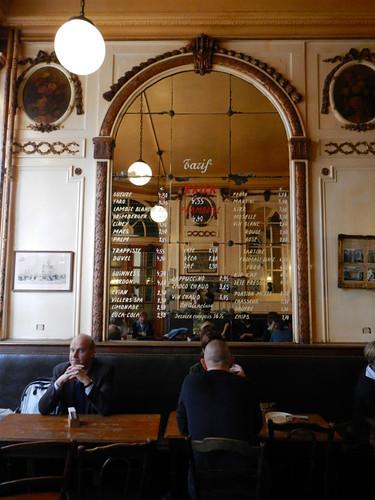 A la Mort Subite, a traditional pub in Brussels, Belgium