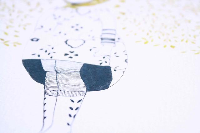 mellow illustration detail legs by  stella pereira