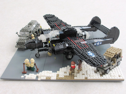 P-61 'Black Widow' diorama, v.2 (2)