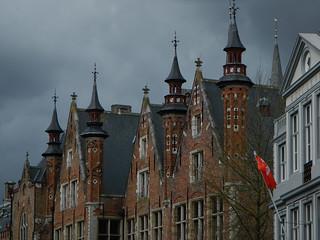 Canal boat cruise in Brugge, Belgium