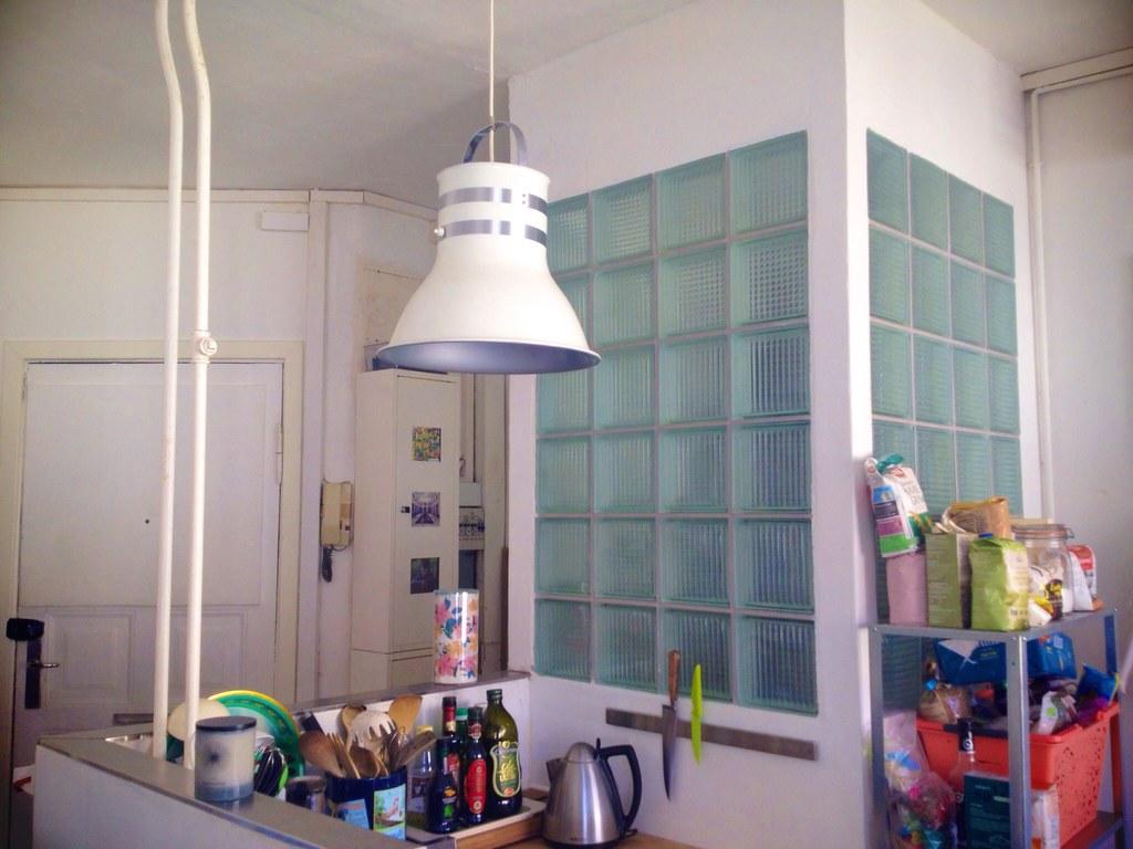 Boho kitchen and hinken lamp
