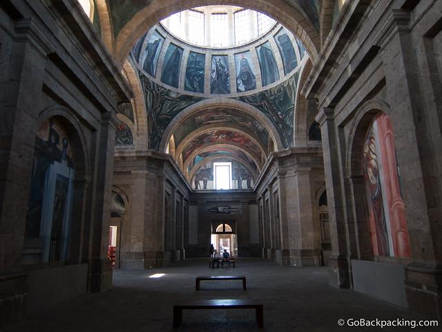 Inside the Chapel at Hospicio Cabañas