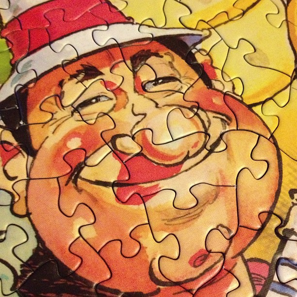 This is how I feel about finishing a 1,000 piece puzzle!