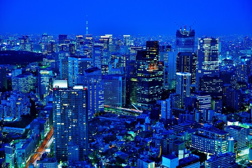 Central Tokyo At Blue Hour by hidesax