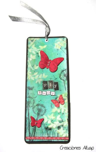 marcapáginas bookmark fly away