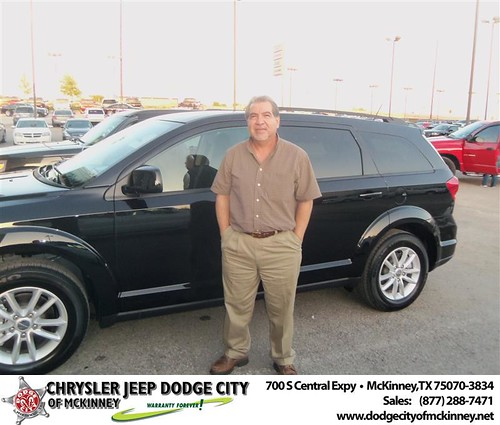 Dodge City of McKinney would like to say Congratulations to Tomas Carreon on the 2013 Dodge Journey by Dodge City McKinney Texas