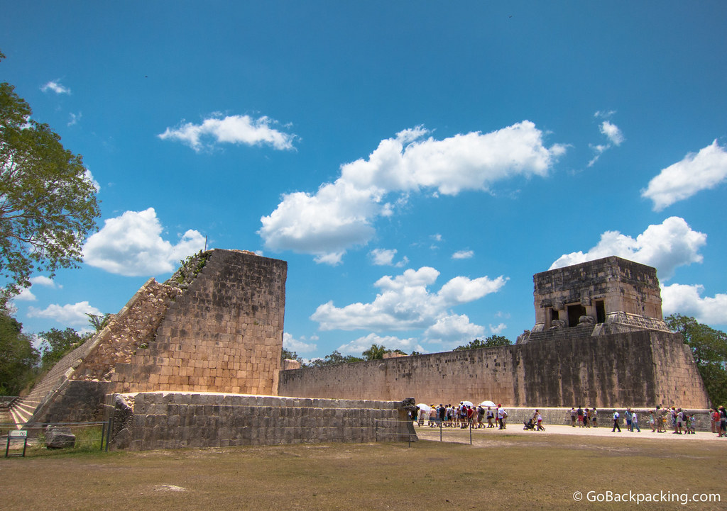 The Great Ball Court at Chichen Itza is 150 meters long, the largest and best preserved of the 13 ball courts discovered in Mesoamerica