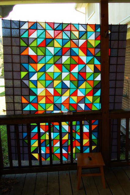 Healing Quilt Top Stained Glass Look