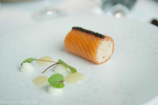 Ballotine of London cure salmon