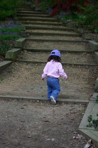my kiddo on some steps