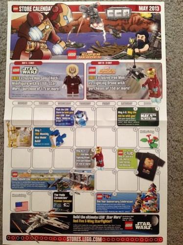 May 2013 lego calendar