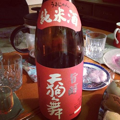 go big or go home! an isshobin (1.8 litre bottle) of tengumai umajun junmai by tangerinee