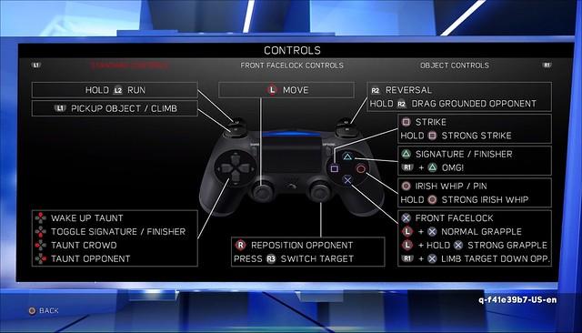 WWE 2K17 - Controls